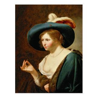 Carte Postale Les fiançailles : La jeune mariée, c.1630