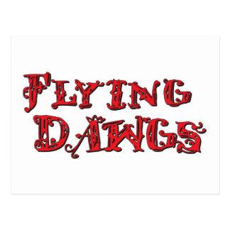 Carte Postale les flyingdawgs ont empilé le rouge de logo
