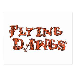 Carte Postale les flyingdawgs ont empilé l'orange de logo