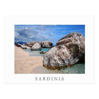 Carte Postale Les grandes roches sur la Sardaigne échouent la