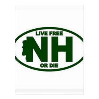 Carte Postale Les honoraires vivants du New Hampshire ou meurent