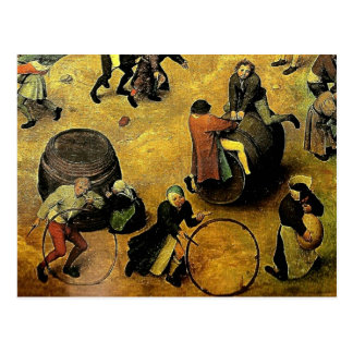 """Carte Postale Les """"jeux des enfants"""" de Pieter Bruegel (détail)"""