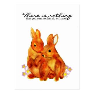 Carte Postale Les lapins - rien que vous ne pouvez pas être,