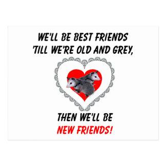 Carte Postale Les meilleurs amis labourent vieux et gris