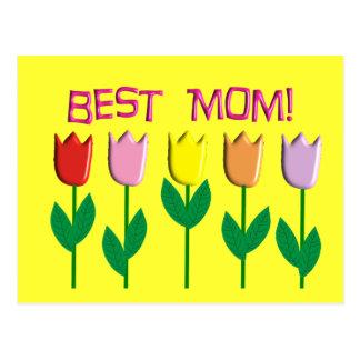 Carte Postale Les meilleurs cadeaux de conception de tulipes de