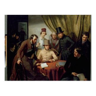Carte Postale Les membres du club de l'artiste de Hambourg, 1840
