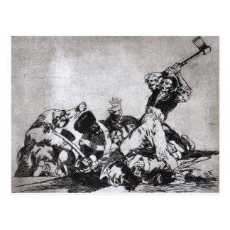 Carte Postale Les mêmes par Francisco Goya