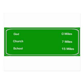 Carte Postale les milles indiquent un dieu