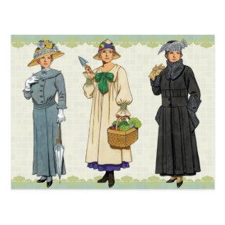 Carte Postale Les modes quotidiennes des femmes