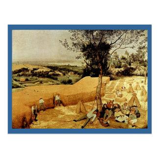 Carte Postale Les moissonneuses de Pieter Bruegel (1565)