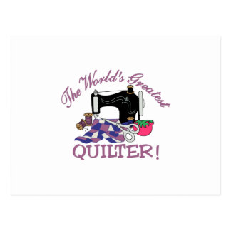 Carte Postale Les mondes plus grand Quilter