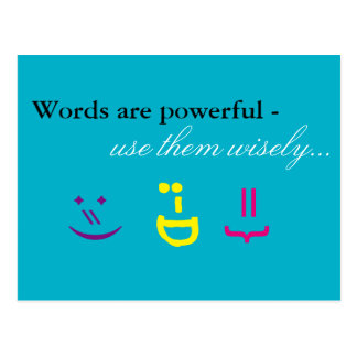 Carte Postale Les mots sont puissants…