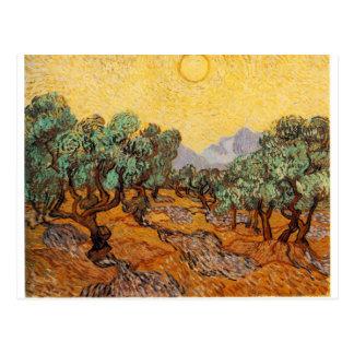 Carte Postale Les oliviers de Vincent Van Gogh (Olives trees)