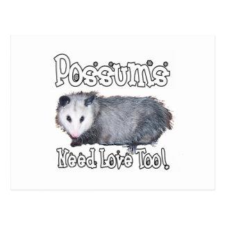 Carte Postale Les opossums ont besoin d'amour aussi