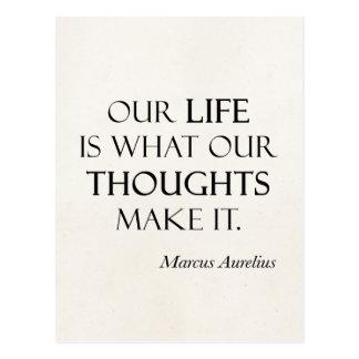 Carte Postale Les pensées vintages de la vie de Marcus Aurelius