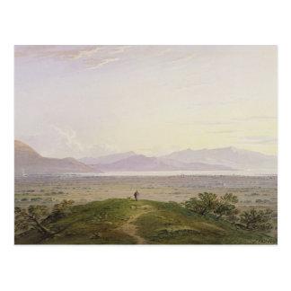 Carte Postale Les plaines du marathon, 1834 (graphite et la