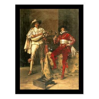 Carte Postale Les plaisirs des messieurs d'Adolphe Alexandre