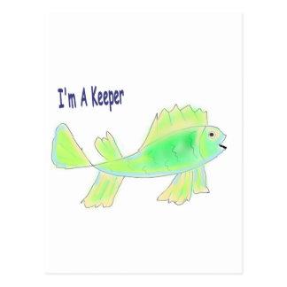 Carte Postale Les poissons mignons avec moi suis un texte de