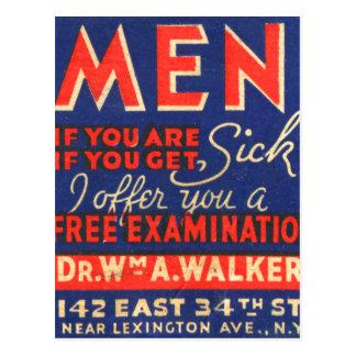 Carte Postale Les rétros hommes vintages d'art de pochette