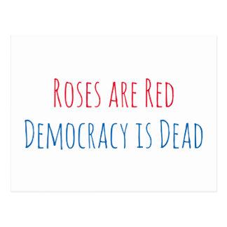 Carte Postale Les roses sont rouges, démocratie est mort
