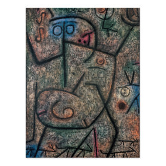 Carte Postale Les rumeurs par Paul Klee