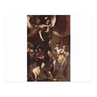 Carte Postale Les sept travaux de la pitié par Caravaggio