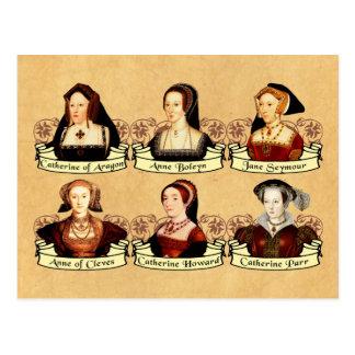 Carte Postale Les six épouses du classique de Henry VIII