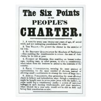 Carte Postale Les six points de la charte des personnes