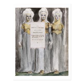 Carte Postale Les soeurs mortelles, conçoivent 67 'des poèmes du