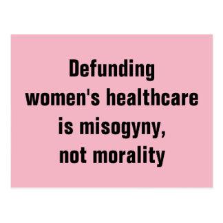 Carte Postale Les soins de santé des femmes de Defunding sont