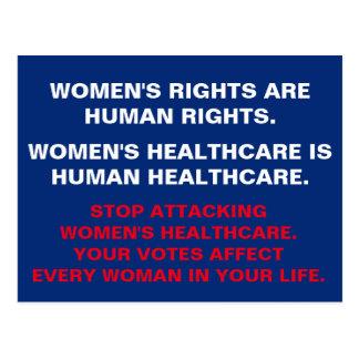 Carte Postale Les soins de santé des femmes sont des soins de
