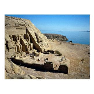 Carte Postale Les temples d'Abu Simbel, désert de l'Egypte