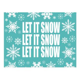 Carte Postale Les tendances d'hiver l'ont laissé neiger des