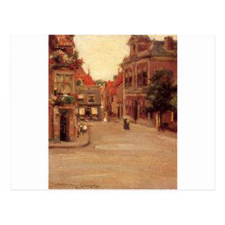 Carte Postale Les toits rouges de Haarlem, aka d'une rue en