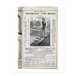 """Carte Postale Les tondeuses à gazon """"d'Archimède"""" célébrées, du"""