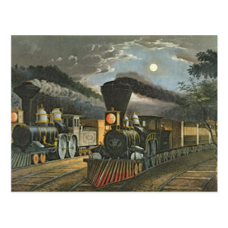 Carte Postale Les trains rapides de foudre, 1863