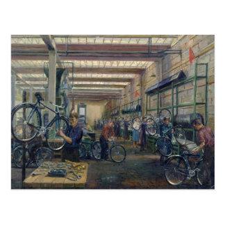 Carte Postale Les travaux de cycle de Moscou, c.1930