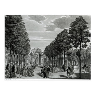 Carte Postale Les voûtes triomphales, la statue de Handel dans