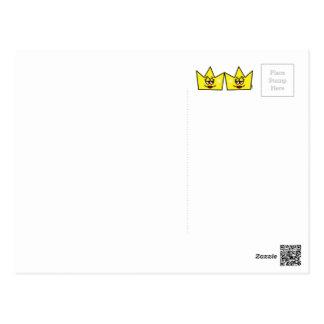 Carte Postale Lesbian Lesbien Reine Queen Crown Coroa