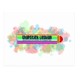 Carte Postale Lesbienne de bâton de pommade pour les lèvres