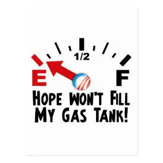Carte Postale L'espoir est sur vide - anti Barack Obama