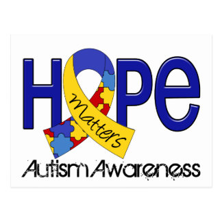 Carte Postale L'espoir importe l'autisme 2