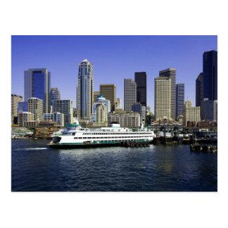 Carte Postale L'état de Washington de ferry de Seattle