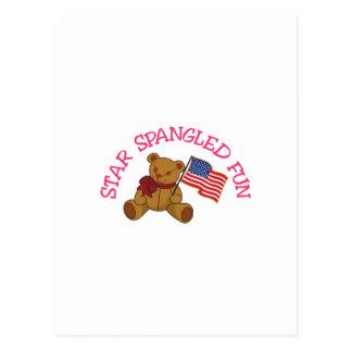 Carte Postale L'étoile a orné l'amusement de paillettes