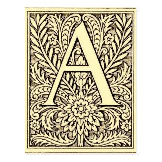 Carte Postale Lettre A d'alphabet