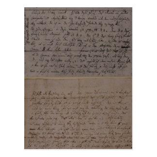Carte Postale Lettre de Leopold Mozart