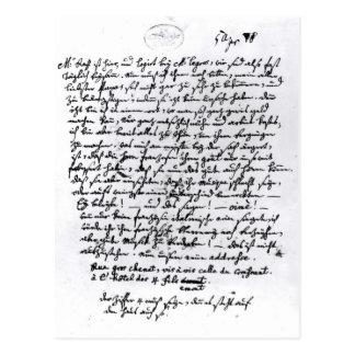 Carte Postale Lettre de Mozart à son père, le 5 avril