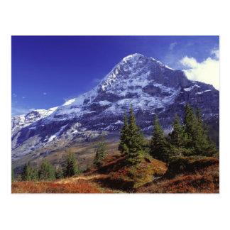 Carte Postale L'Europe, Suisse, Eiger. Les couleurs de chute