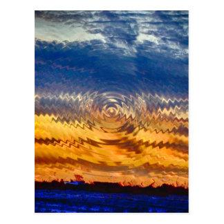 Carte Postale lever de soleil-coucher du soleil