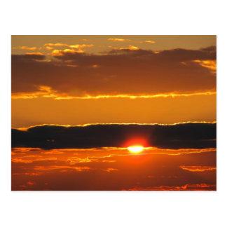Carte Postale lever de soleil/coucher du soleil